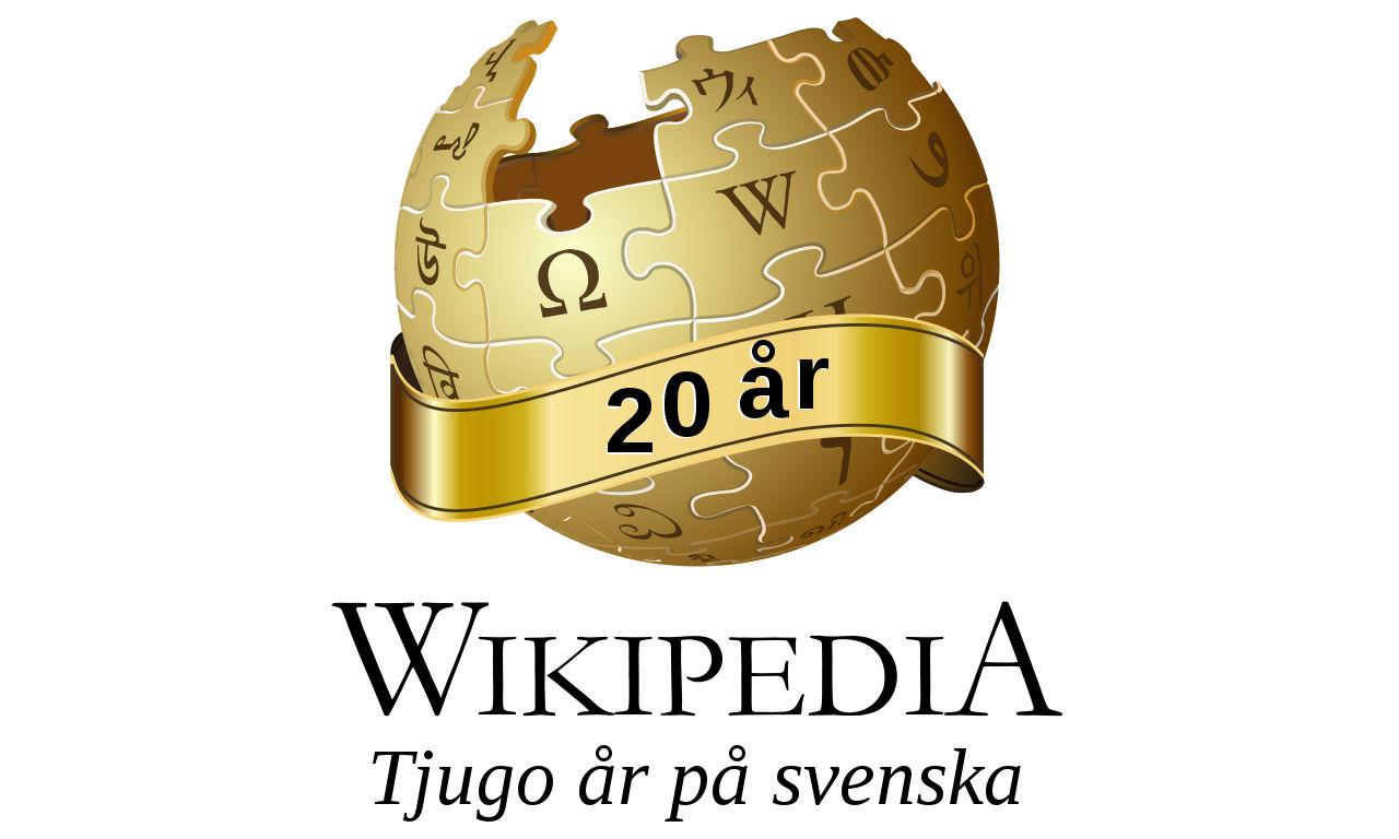 Idag fyller svenskspråkiga Wikipedia 20 år