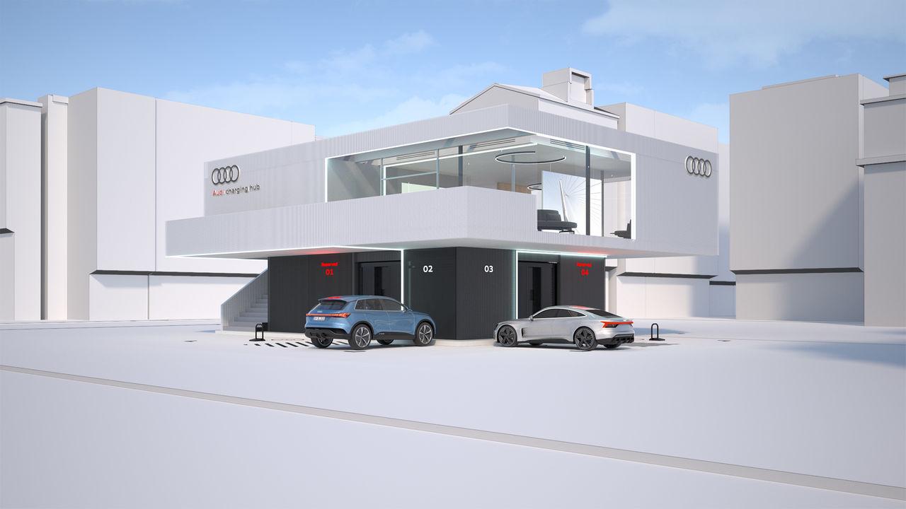 Audi visar upp egna laddstationer för elbilar