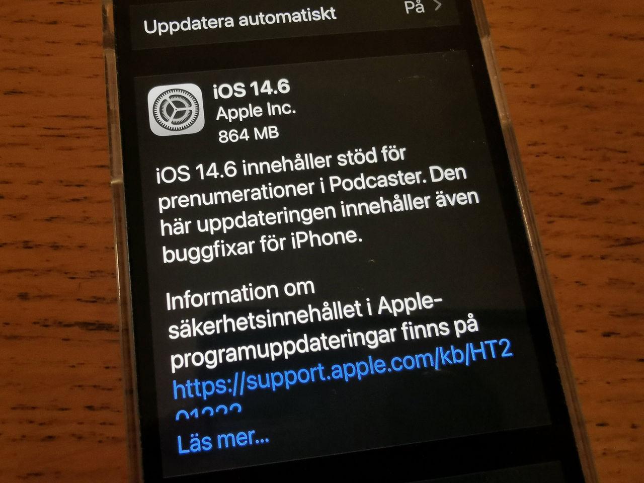 Apple släpper iOS 14.6