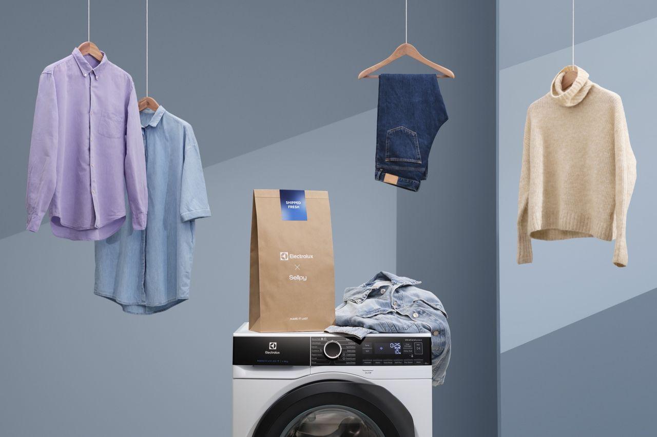 Sellpy får hjälp att tvätta kläder