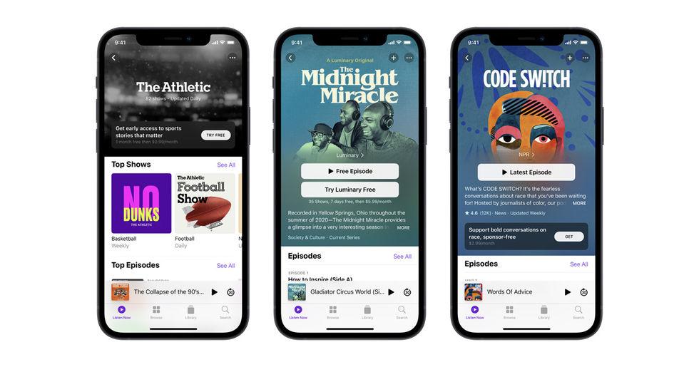 Apple senarelägger premiumlanseringen för podcasts
