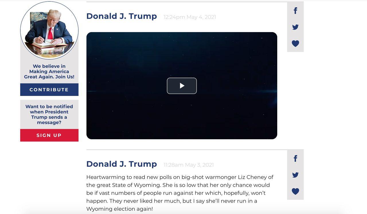 Trump lägger ner sitt