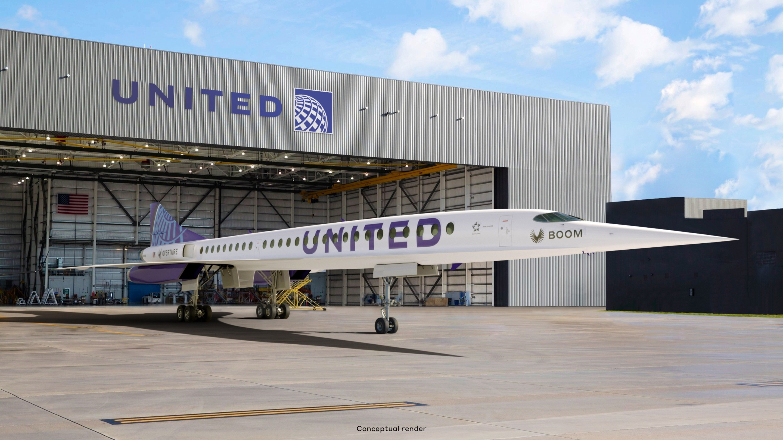 United Airlines planerar att köpa överljudsplan Ska köpa 15 stycken Overture-plan av Boom Supersonic
