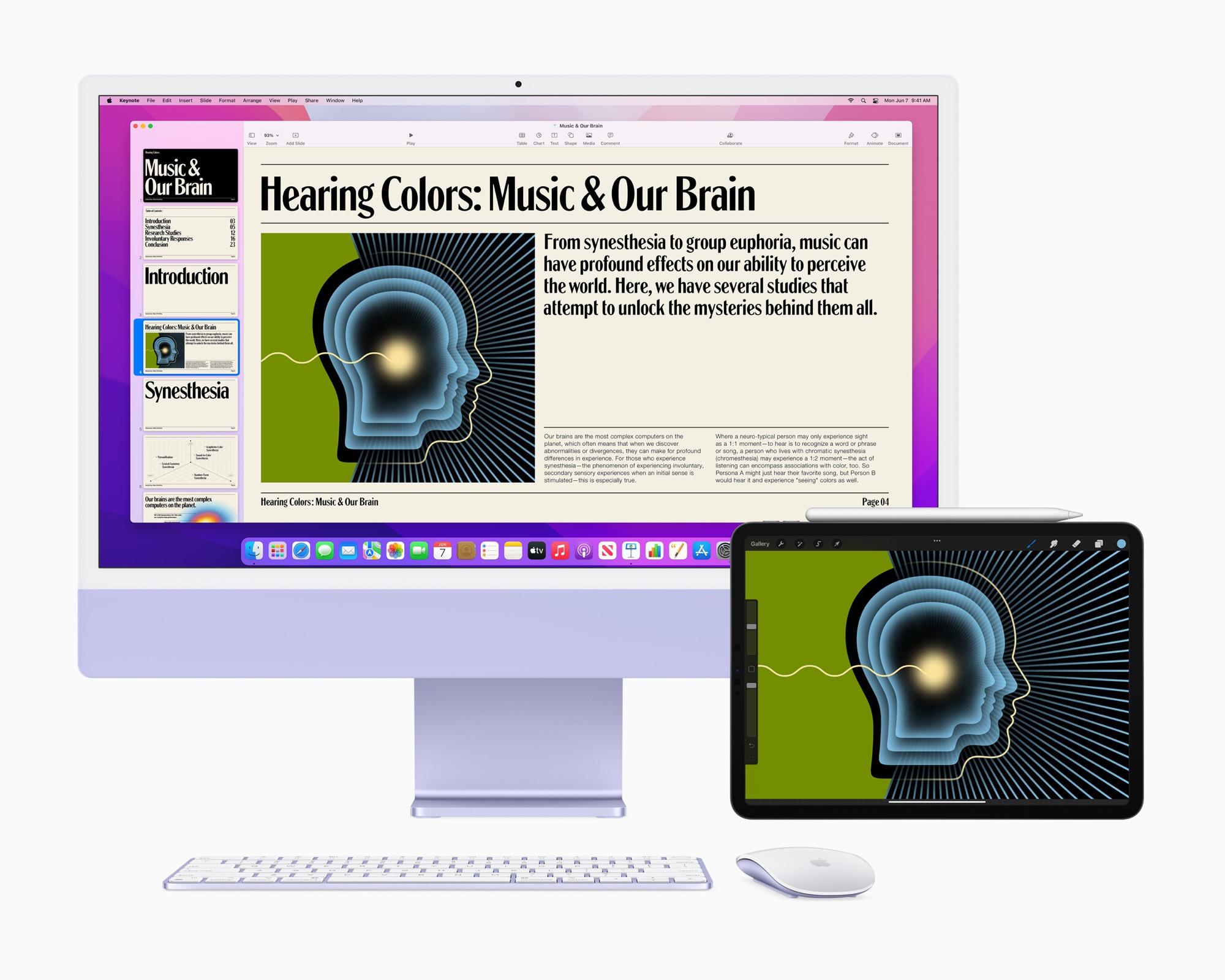 Styr flera enheter samtidigt med Universal Control Nyhet i macOS