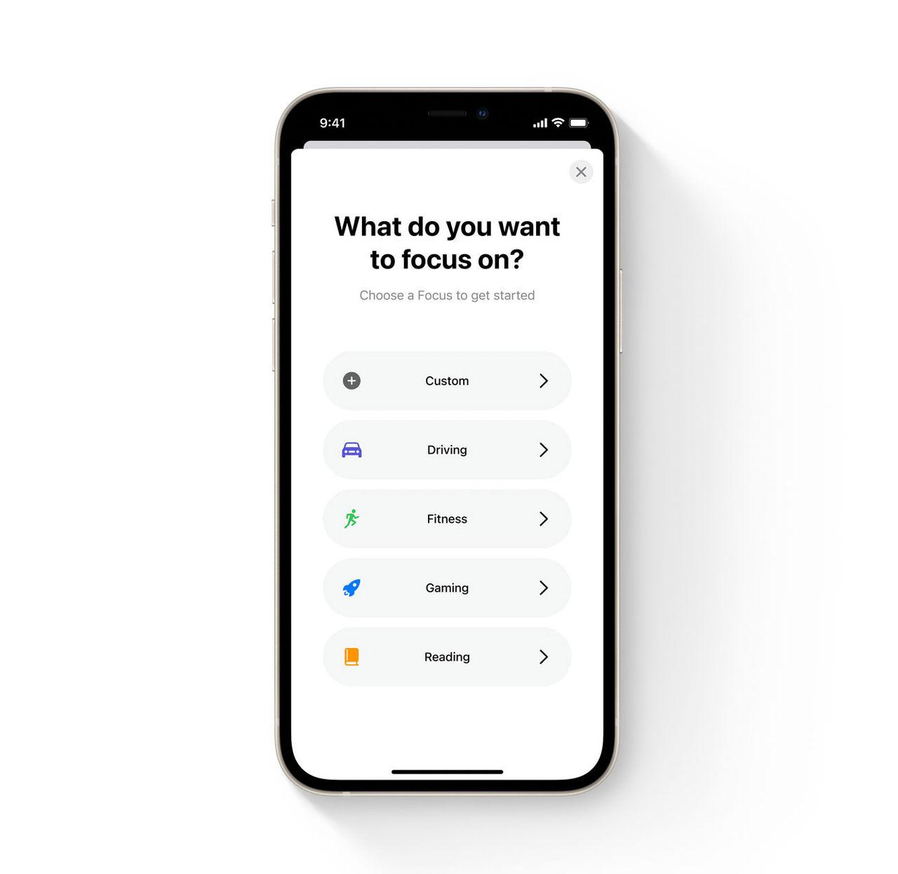 Enklare att fokusera i iOS 15