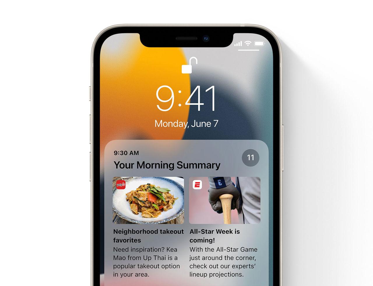 Notiser ändras en del i iOS 15