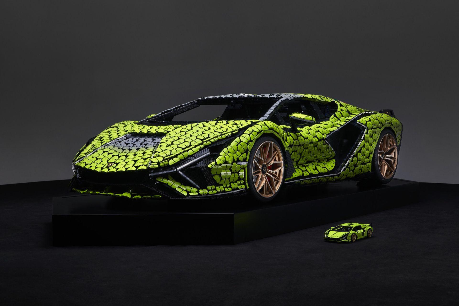 Lego har byggt Lamborghini Sián i naturlig storlek
