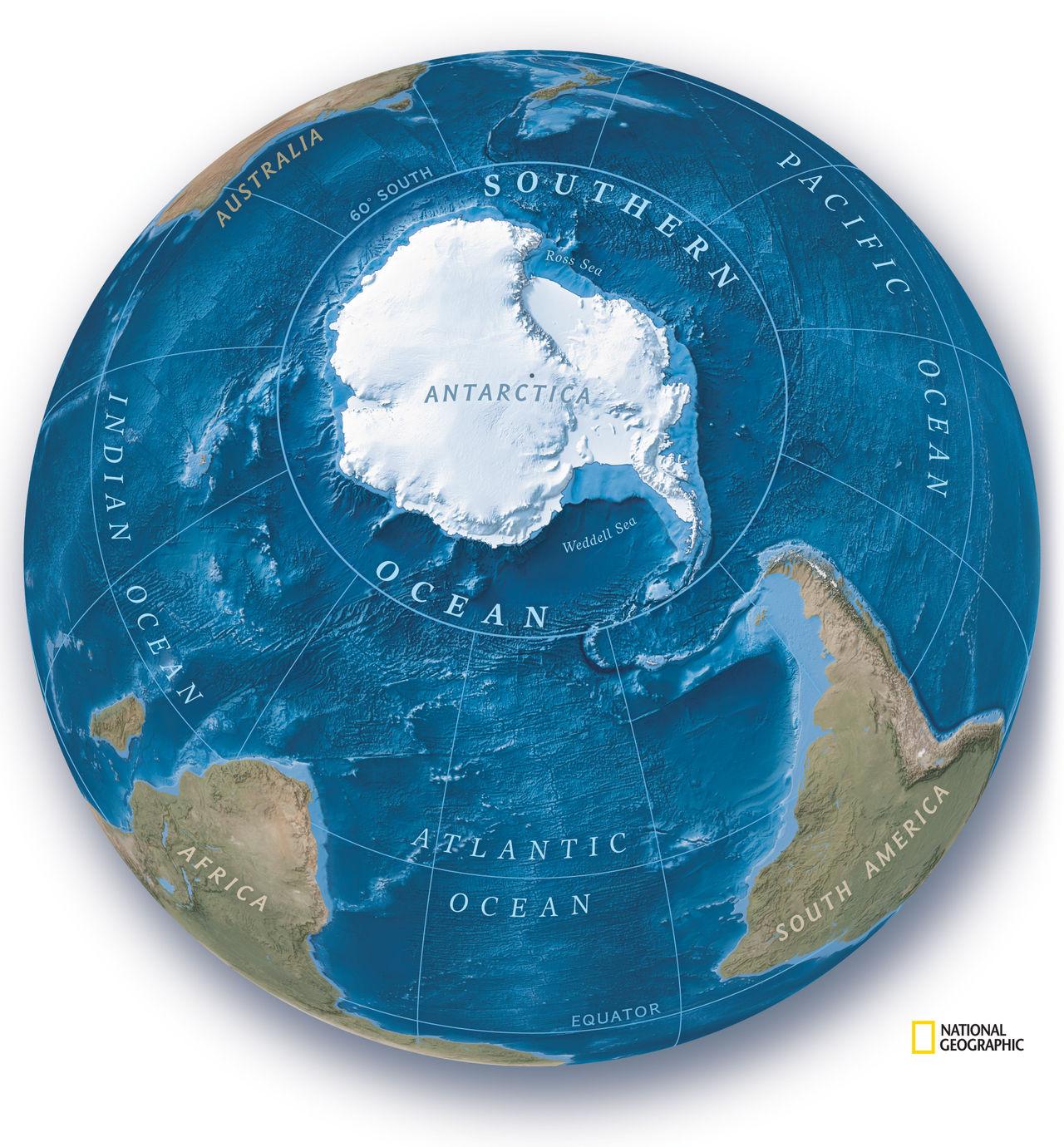 National Geographic anser att det finns fem oceaner