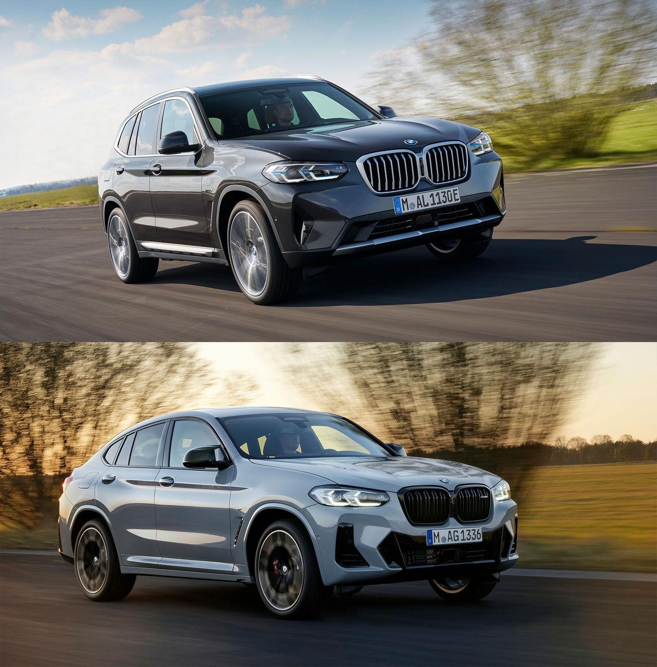 BMW ansiktslyfter X3 och X4