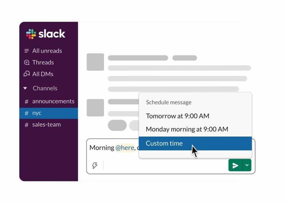 Skicka meddelanden senare med Slack
