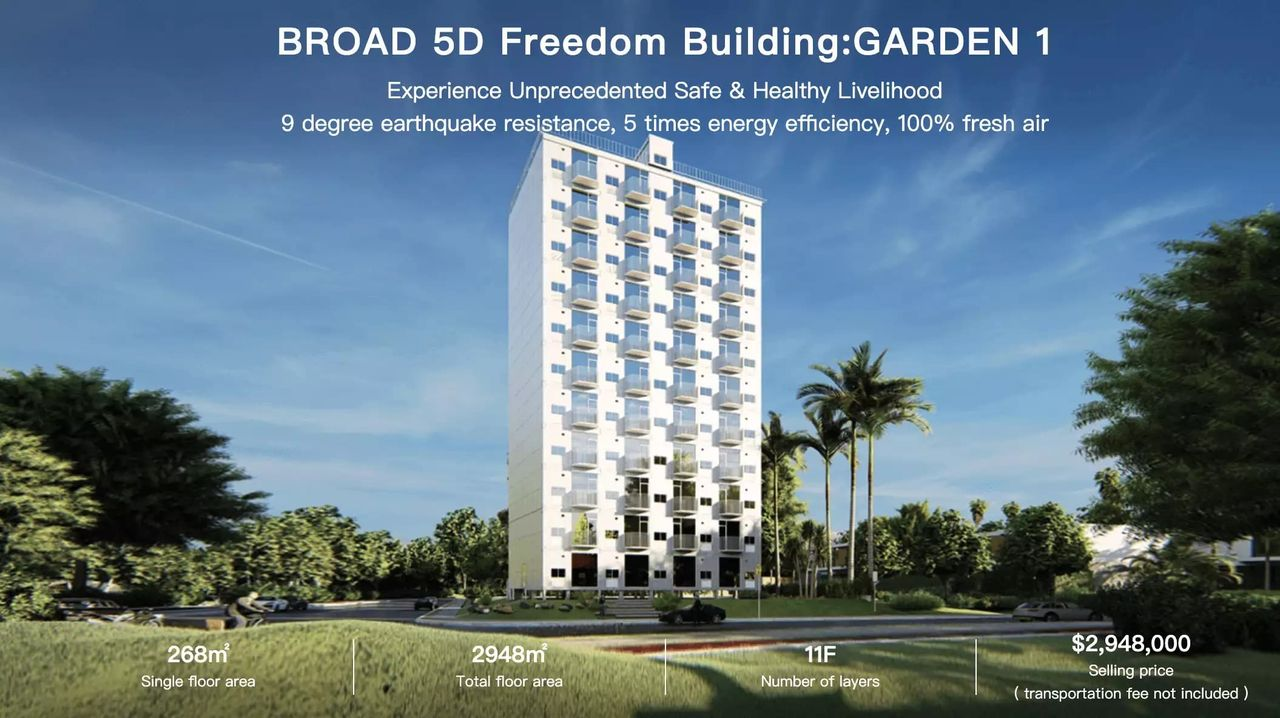 Kolla in när ett tiovåningshus byggs på en dag
