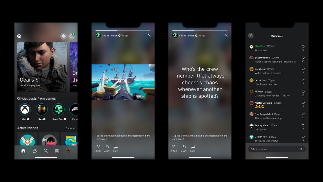 Xbox-appen får Stories-funktion