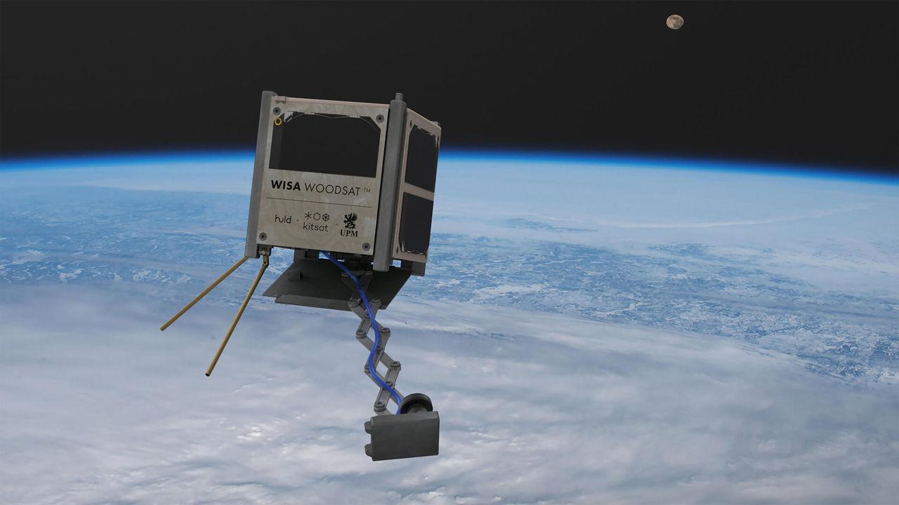Finsk satellit i trä har gjort ett första höghöjdstest