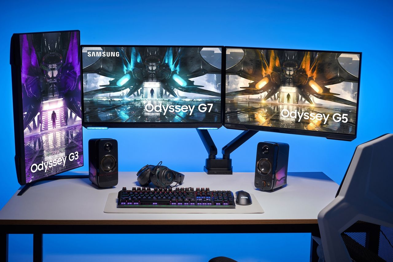 Samsung visar upp nya platta Odyssey-skärmar