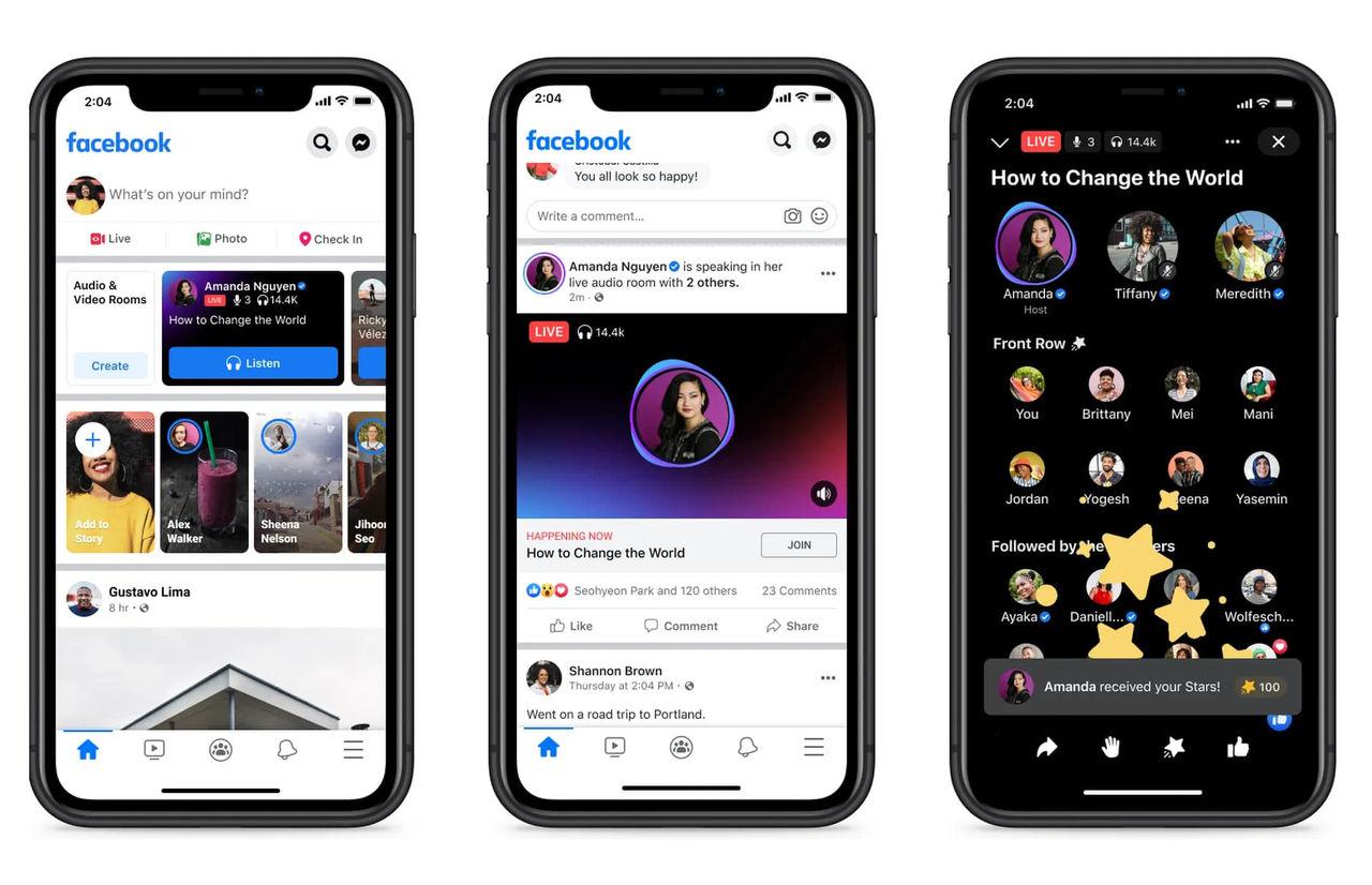 Facebook släpper Clubhouse-konkurrenten Live Audio Rooms