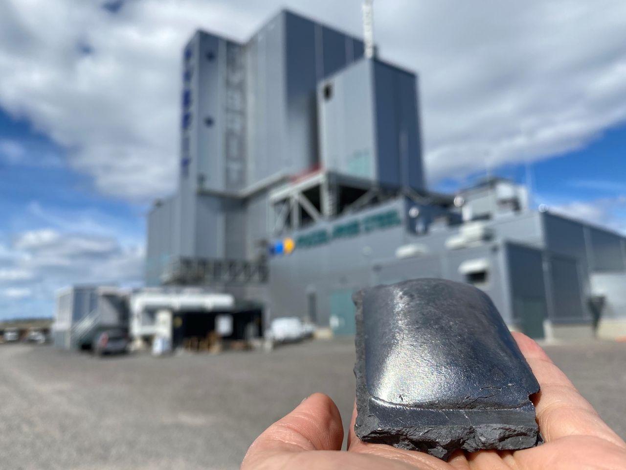 Hybrit-projektet har producerat 100 ton järnsvamp!