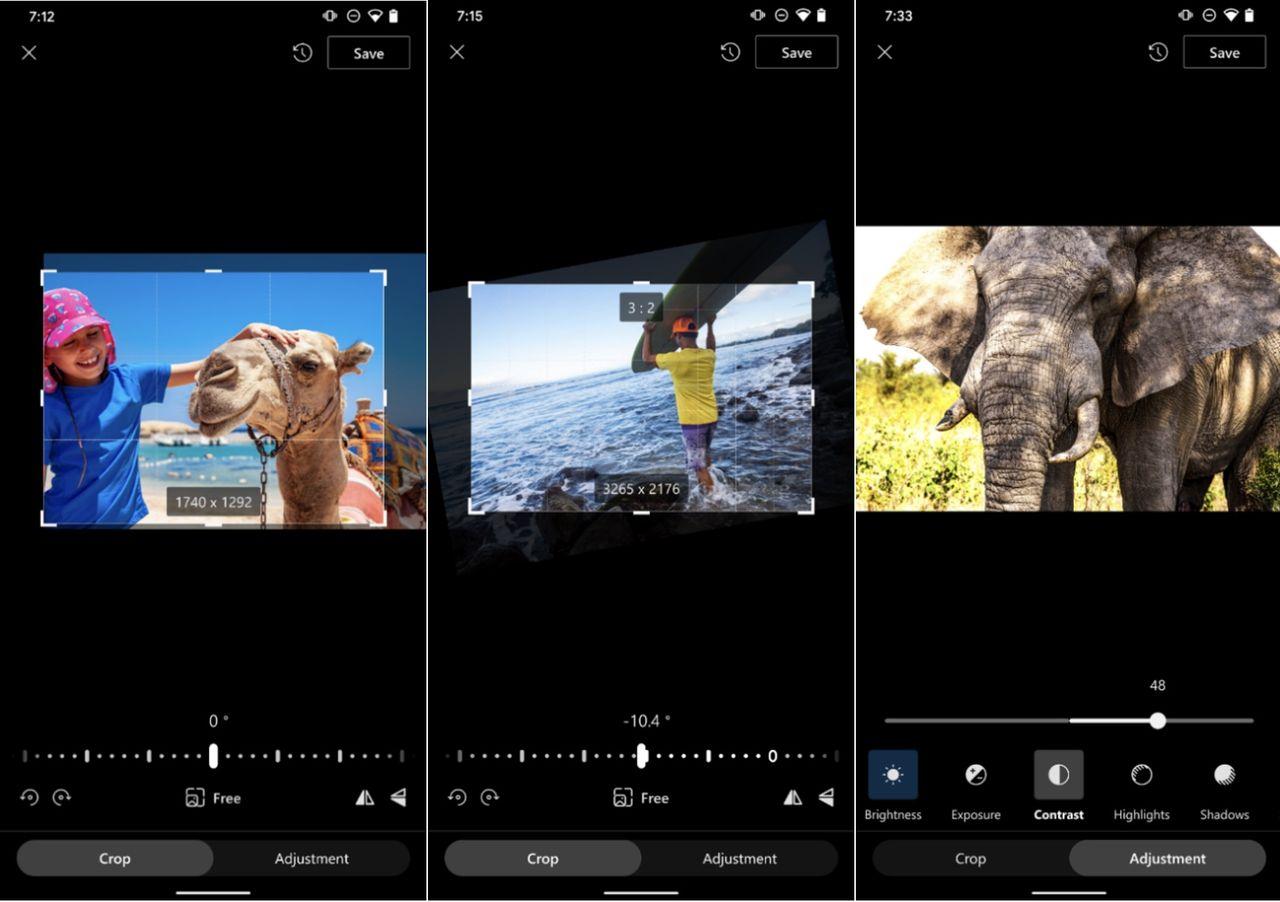OneDrive får grundläggande fotoredigering