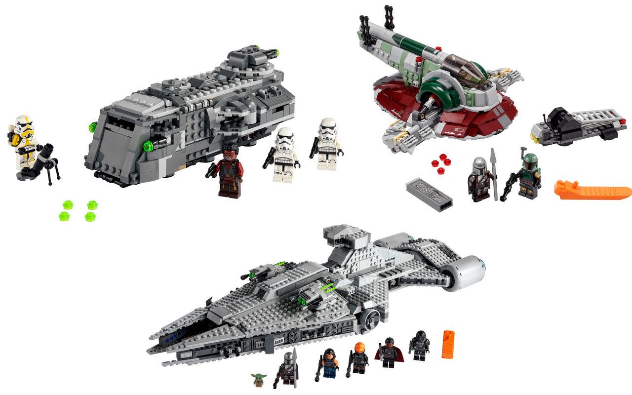 LEGO släpper tre nya Mandalorian-byggen