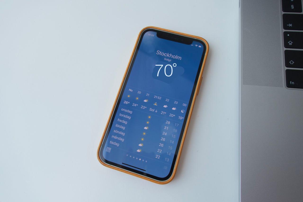 Väder-appen i iOS vägrar visa 69