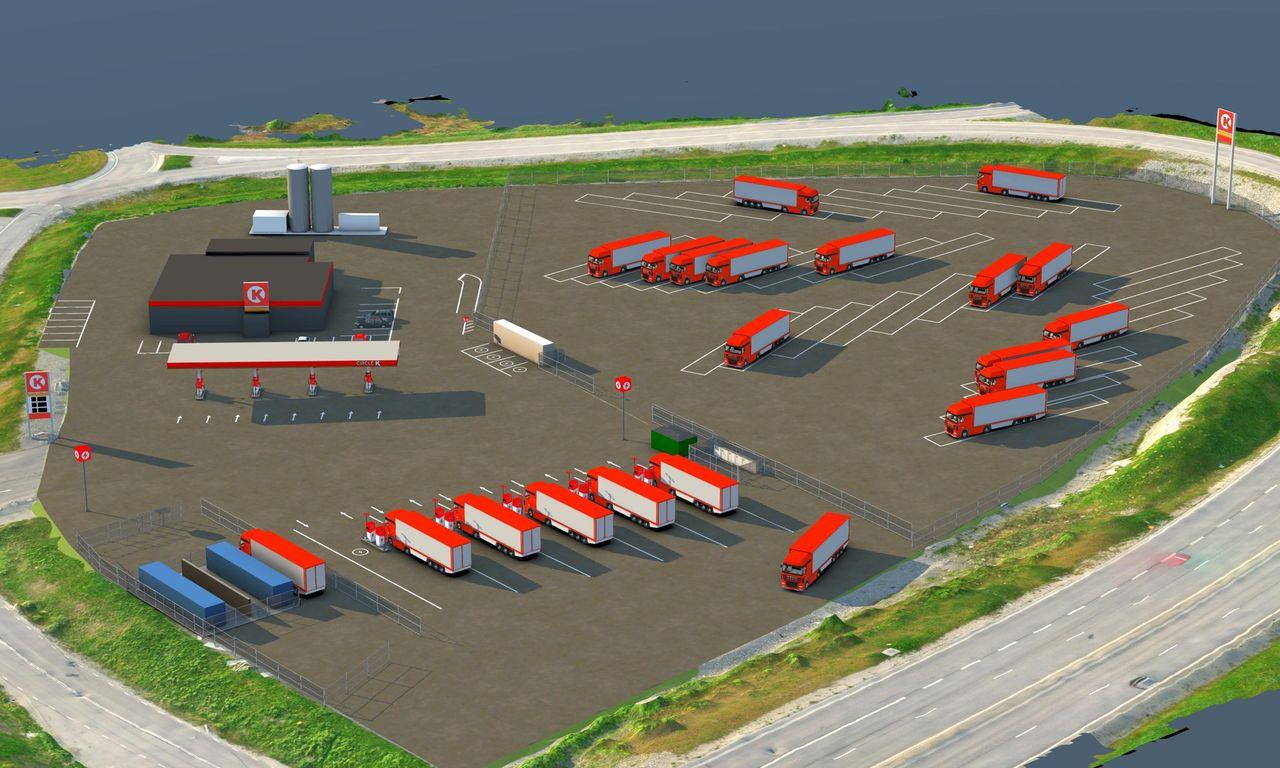 Circle K ska bygga vätgas- och elstation för tung trafik