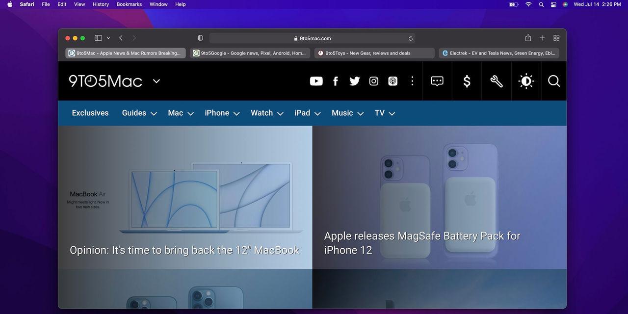 Apple backar på Safari-design i nya macOS
