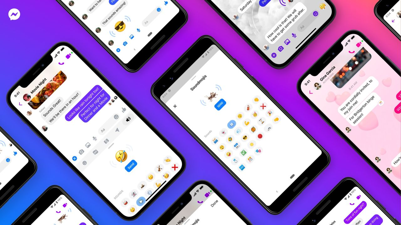 Facebook börjar med emojis som låter