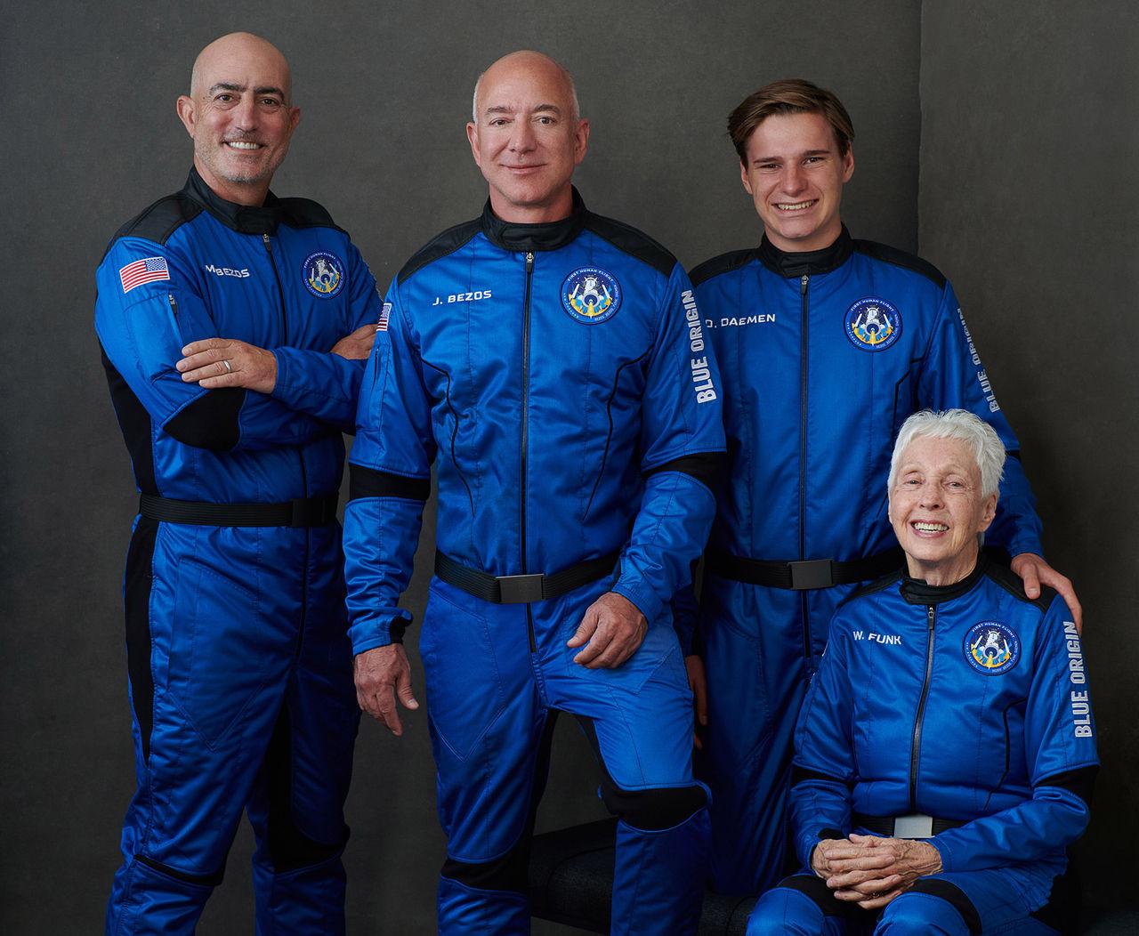 Kolla in Blue Origins första bemannade rymdresa
