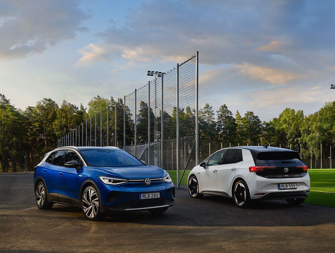 VW-gruppen börjar få igång elbilsleveranserna ��r, som grupp, halvvägs till Tesla