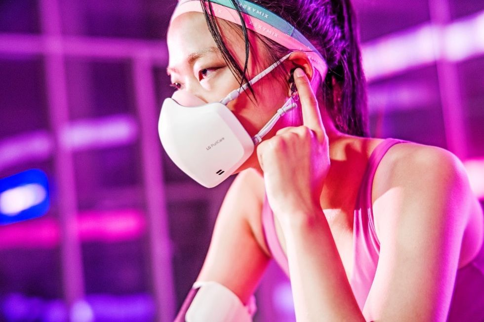 LG släpper munskydd med inbyggd luftrenare