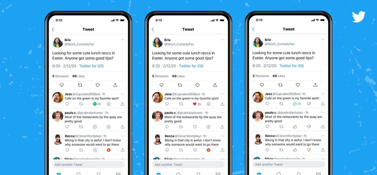 Twitter testar nedröstning av kommentarer