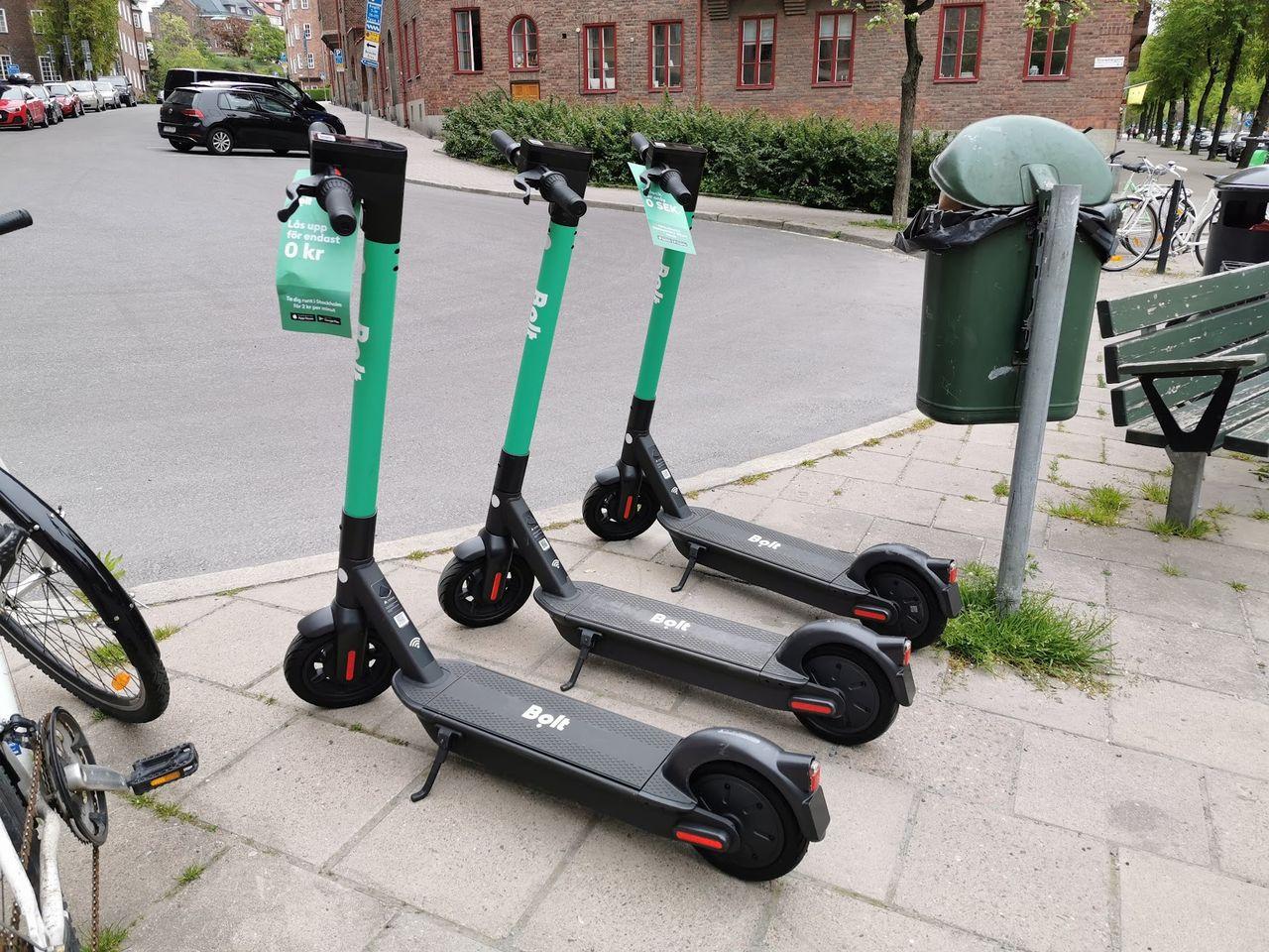Bolt slutar hyra ut elsparkcyklar på helgnätter