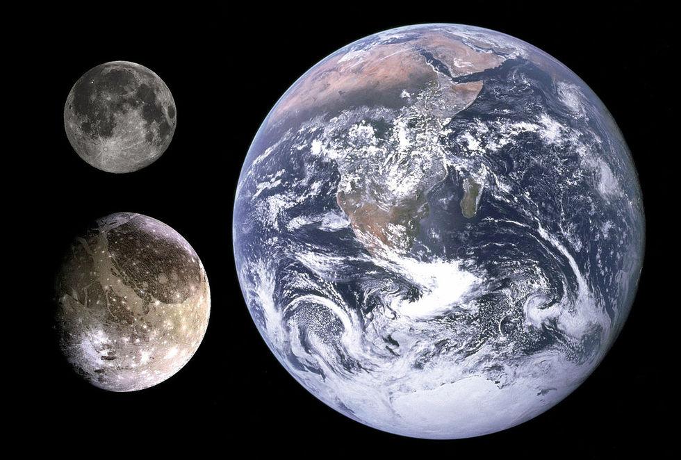 Forskare hittar vattenånga på Ganymede