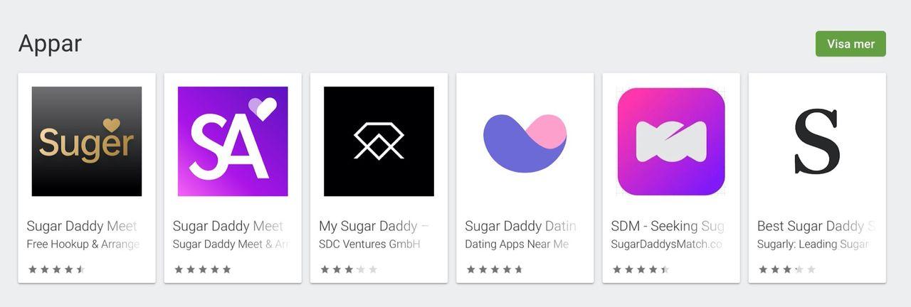 Google portar sugar daddy-appar från Play Store