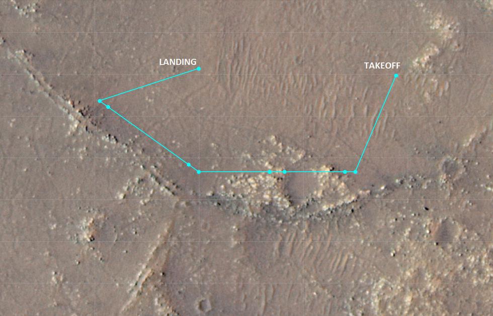 Kolla in Ingenuitys tionde flygning på Mars