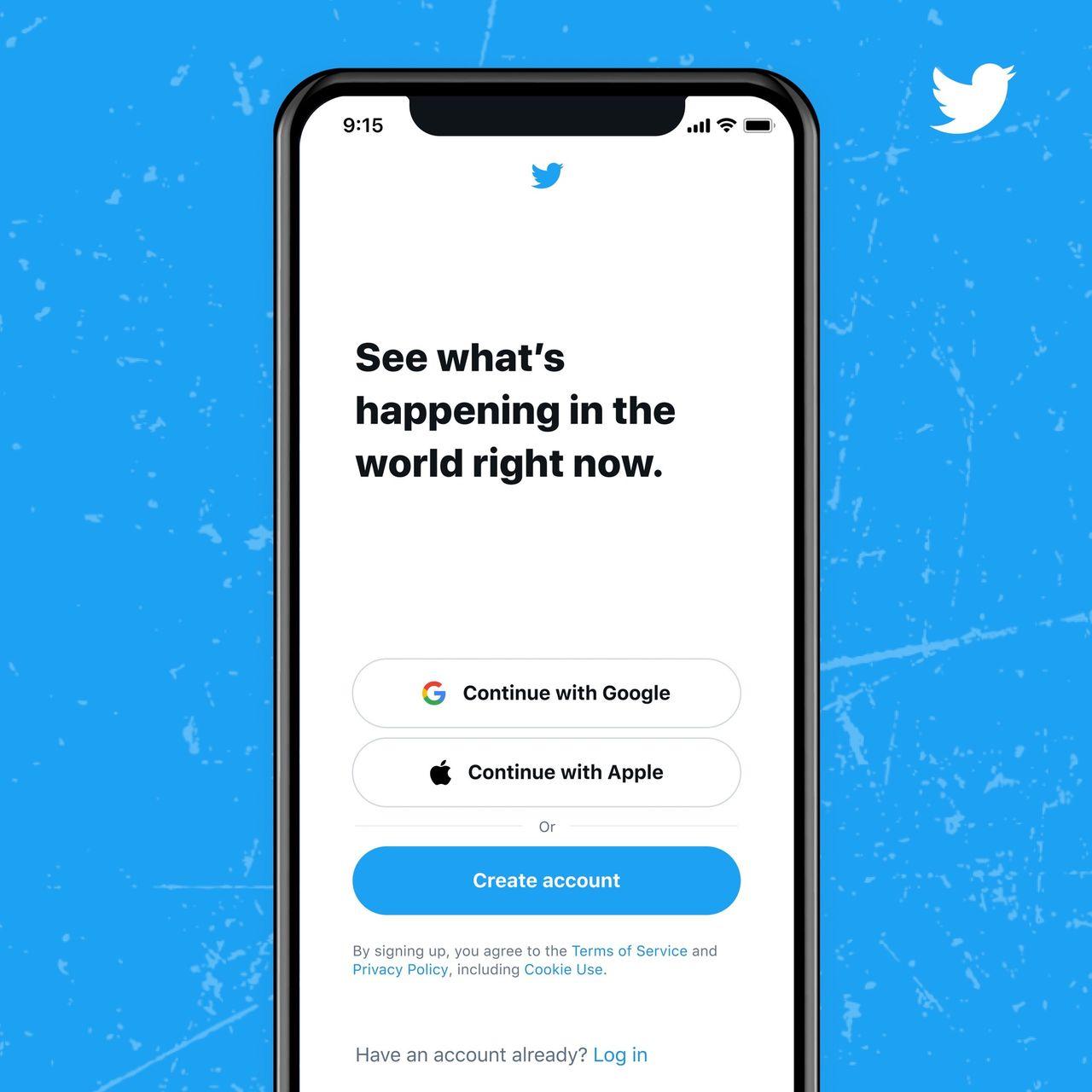 Logga in på Twitter med ditt Google- eller Apple-konto