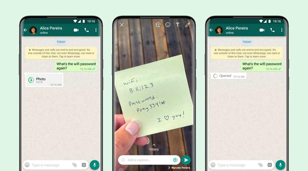 Nu kan man skicka självraderande bilder med WhatsApp