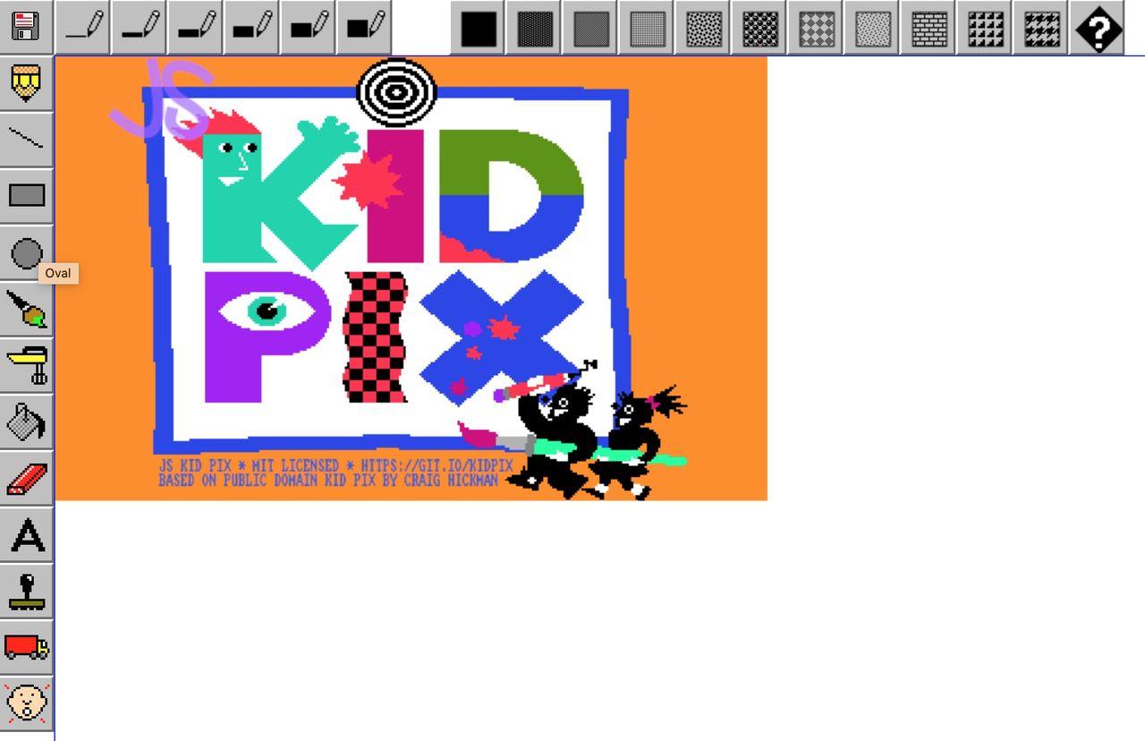 Mac-mjukvaran Kid Pix finns nu på webben