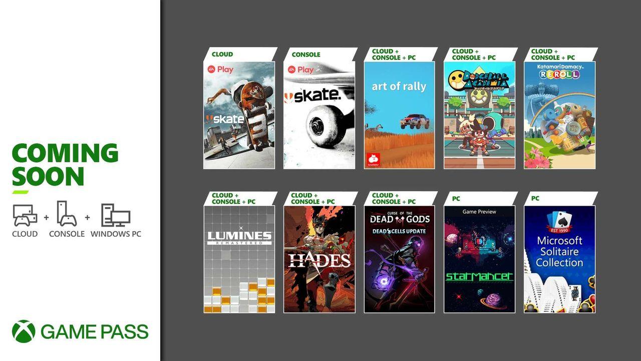 Microsoft petar in augustis spel i Game Pass