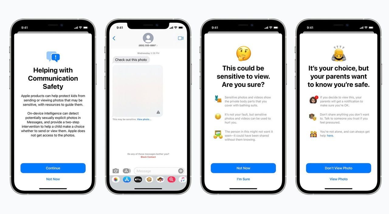 Apple tar fram funktioner för att skydda barn mot övergrepp