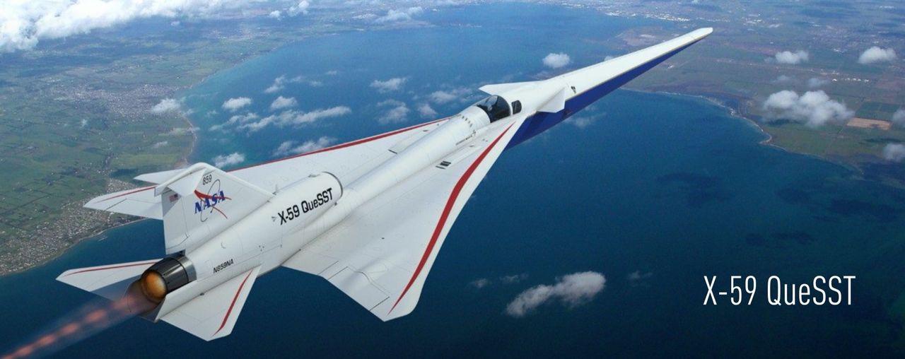 Kolla in bygget av X-59 QueSST