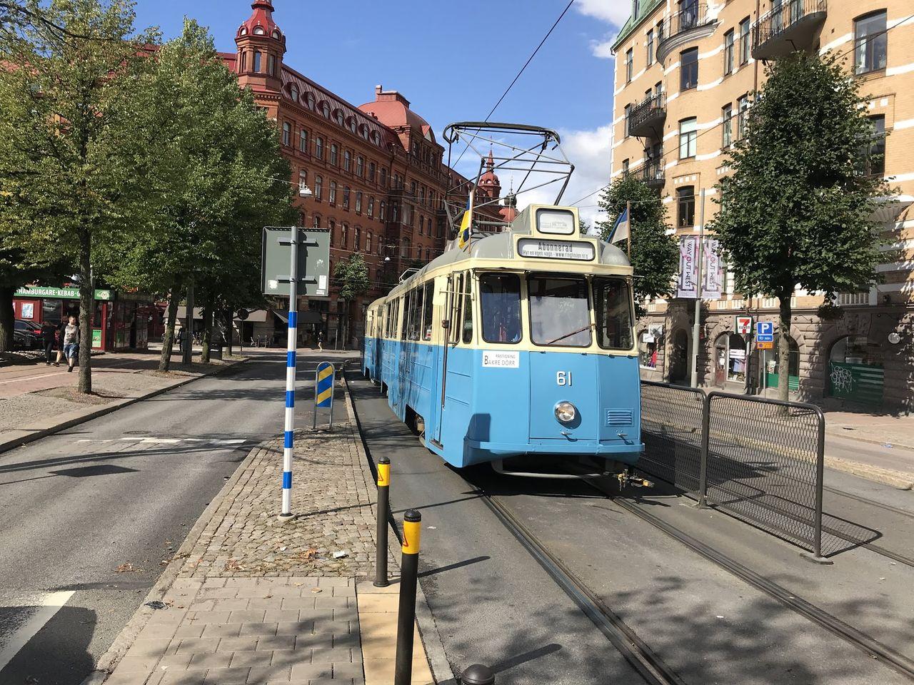 Alla spårvagnar i Göteborg stoppade