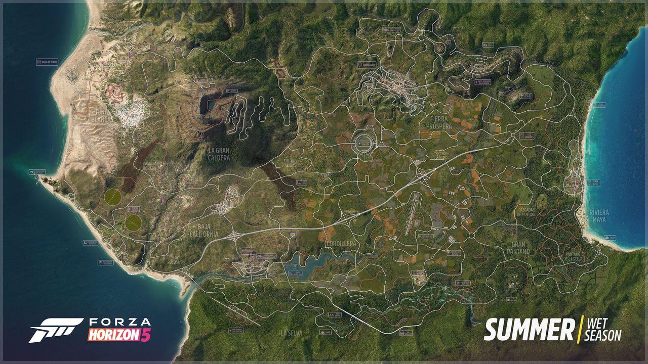En titt på kartan i Forza Horizon 5