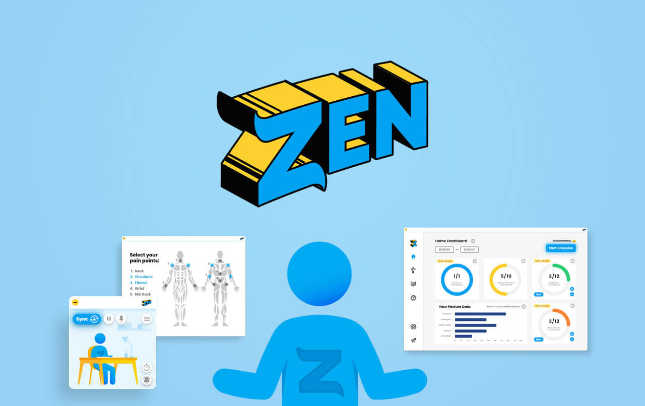Zen håller koll på hur du sitter framför datorn