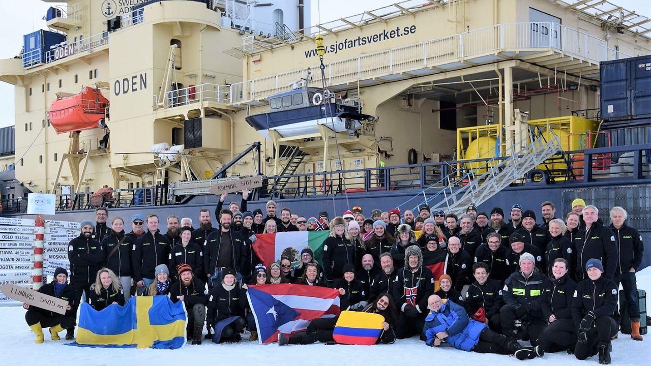 Isbrytaren Oden besöker Nordpolen för tionde gången