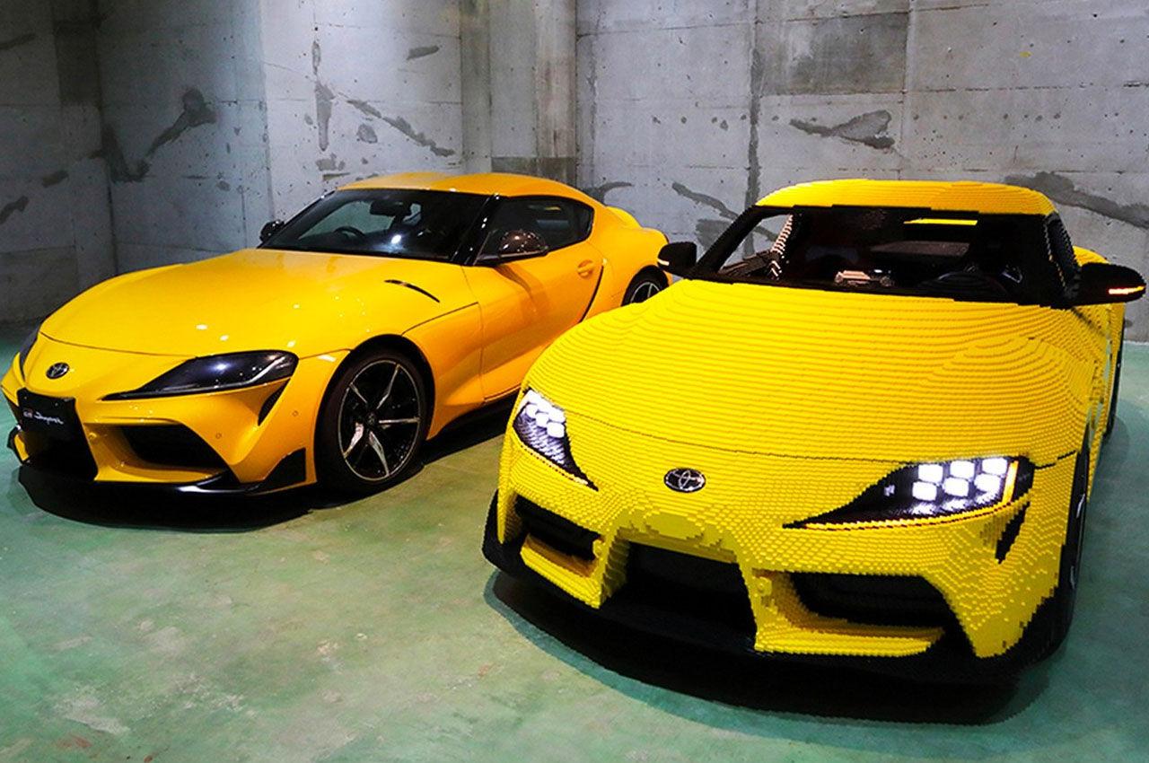 Kolla in en körbar Toyota Supra i Lego