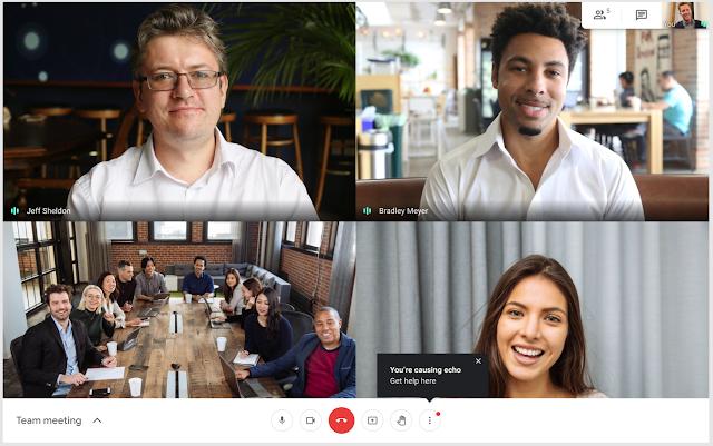 Google Meet börjar säga till om du orsakar eko Google Meet börjar säga till om du orsakar eko