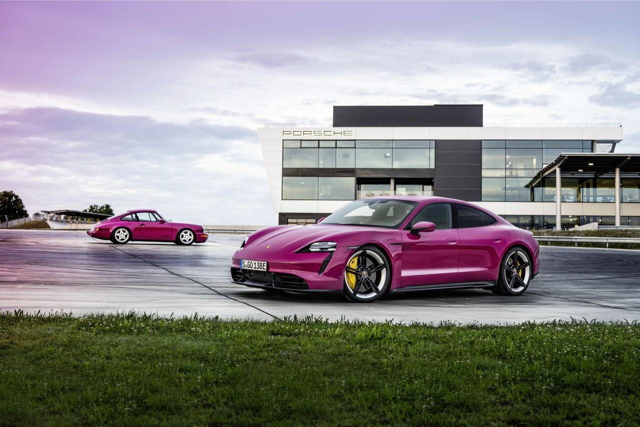 Porsche Taycan får mer räckvidd och ny färg