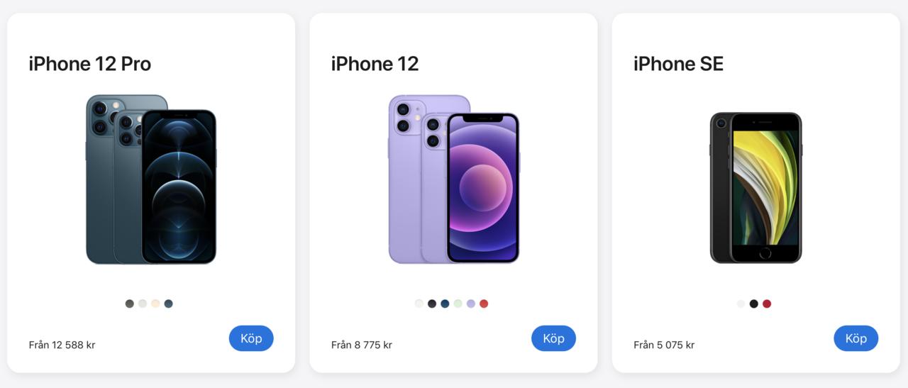 Apple höjer möjligtvis priserna på årets iPhone-modeller