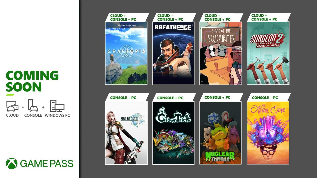 Microsoft listar septembers Game Pass-titlar
