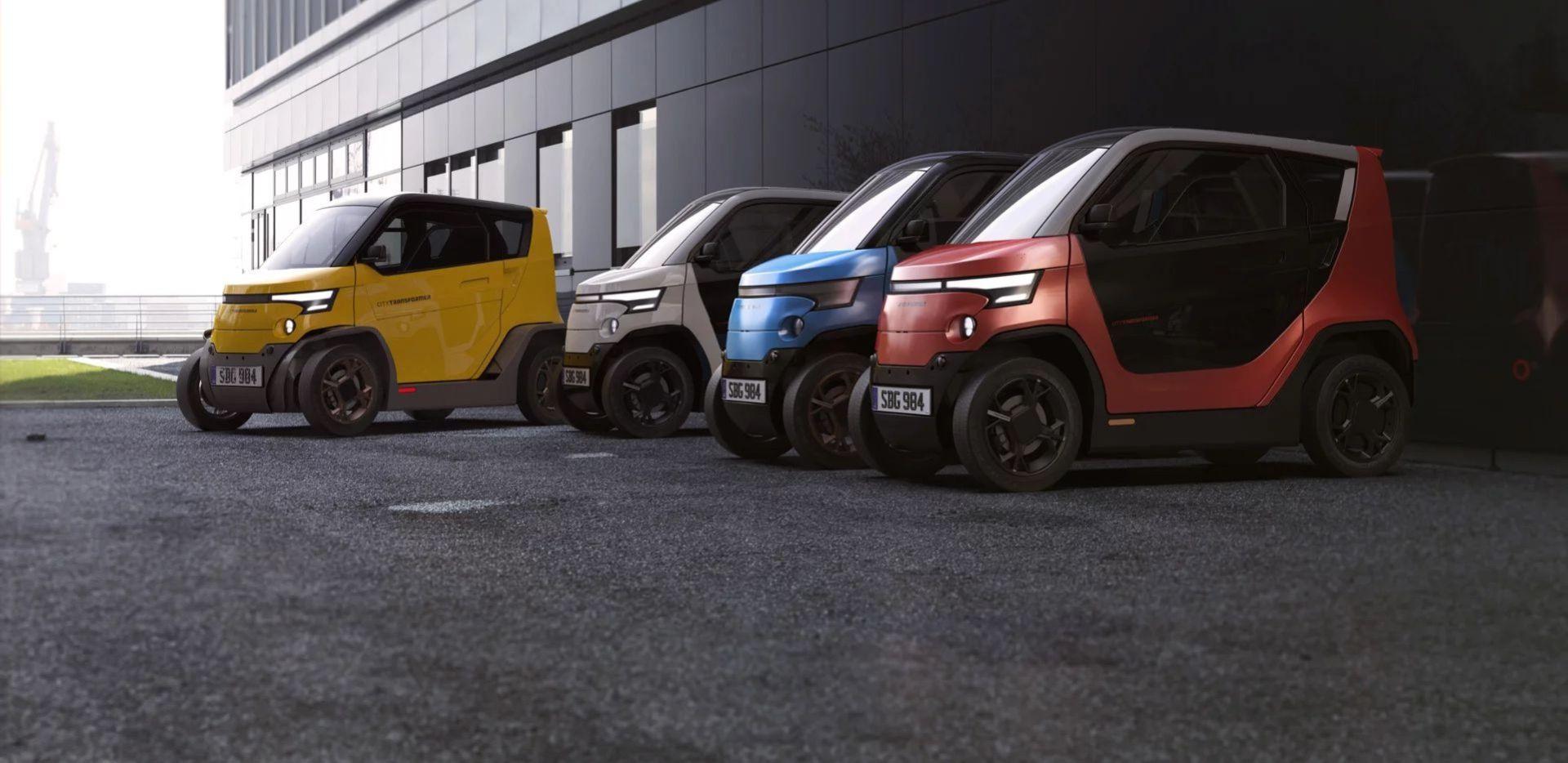 City Transformer - liten elbil med justerbar spårvidd